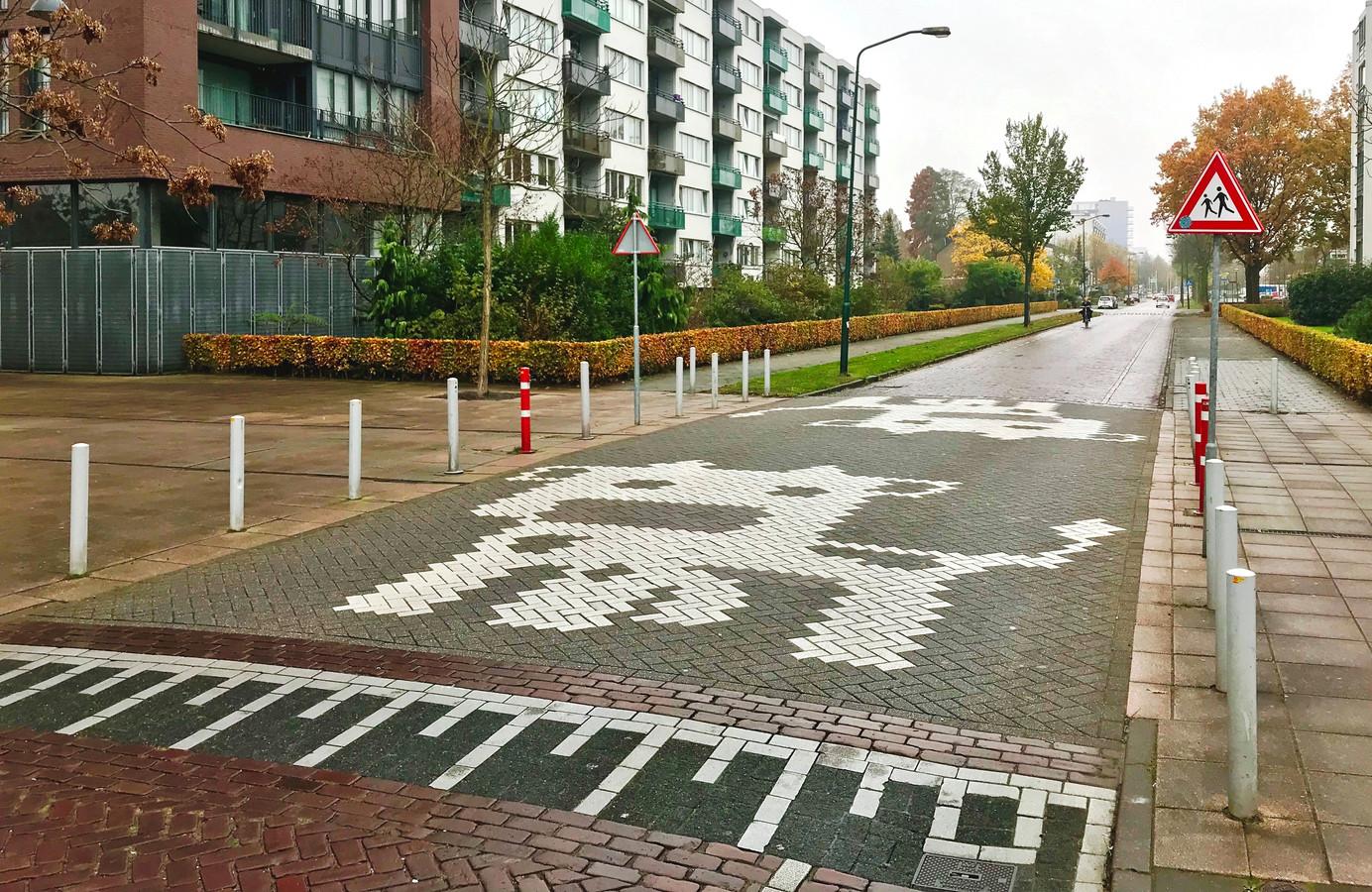 Geen zebrapad, maar een koeiepad. Kun je hier in de Tuinzigtlaan in Breda als voetganger veilig oversteken?