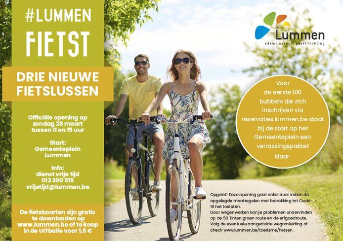 Flyer van de fietslussen.