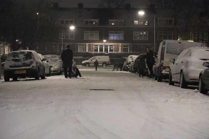 Sneeuwpret op de Geitenkamp in Arnhem.