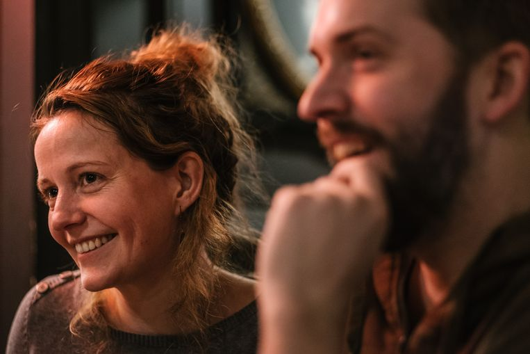 Julie Mahieu en Jonas Geirnaert deelden vier jaar lang bed en schrijftafel. Beeld Wouter Van Vooren