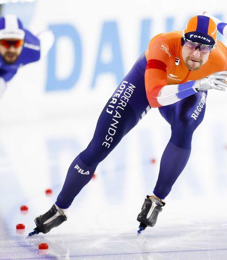 Nieuwe schaatsregel: blokje aantikken betekent automatisch diskwalificatie