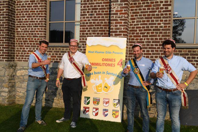 Karel Thurman, Michiel Vandewalle, Wouter De Stoop en Lander De stoop van Moeder Waregemse