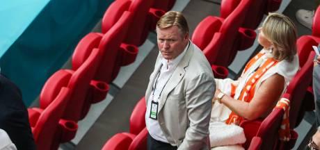 Oud-bondscoach Ronald Koeman is Oranje niet vergeten en zit op de tribune