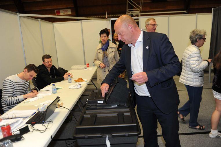 Voor Hans Bonte en zijn partij werd het geen prettige verkiezingsdag.