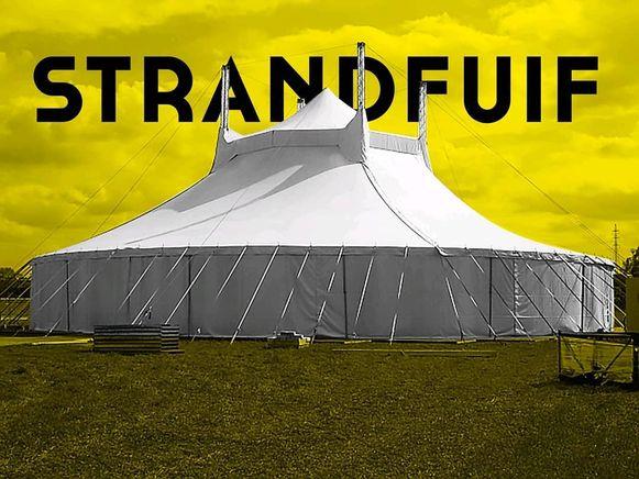 Zo zal de nieuwe tent op De Strandfuif er uit zien.