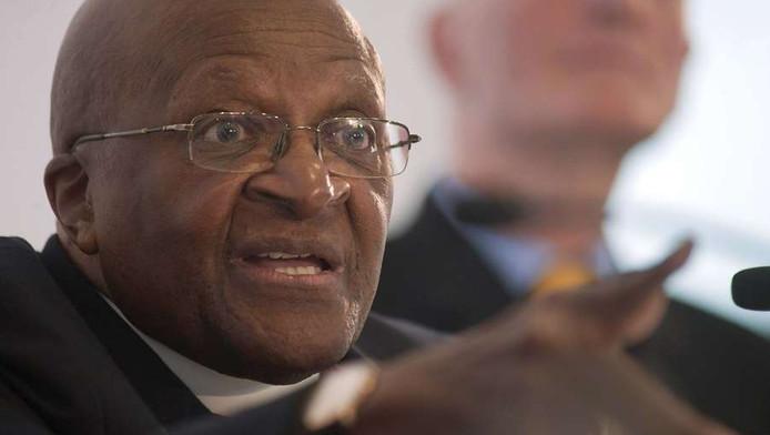 De Zuid-Afrikaanse aartbisschop Desmond Tutu
