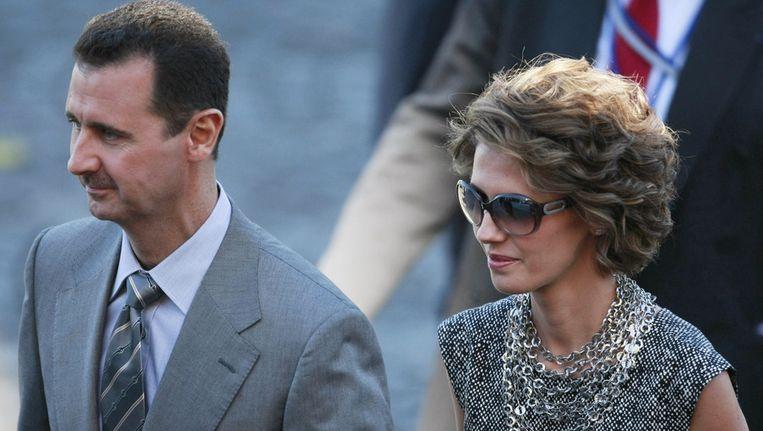 De Syrische president Bashar al-Assad en zijn echtgenote Asma. Beeld ap