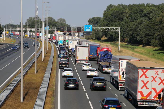 De file van Apeldoorn naar Deventer.