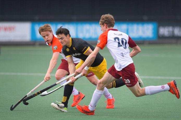 L-R Joep Troost (Almere), Tijmen Reijenga (HC Den Bosch), Bram Cornelisse (Almere)