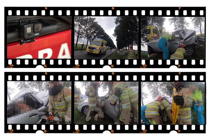 Filmstrip meekijken met de brandweer. Stills uit video. Bewerking de Stentor / Dagmar Heikens