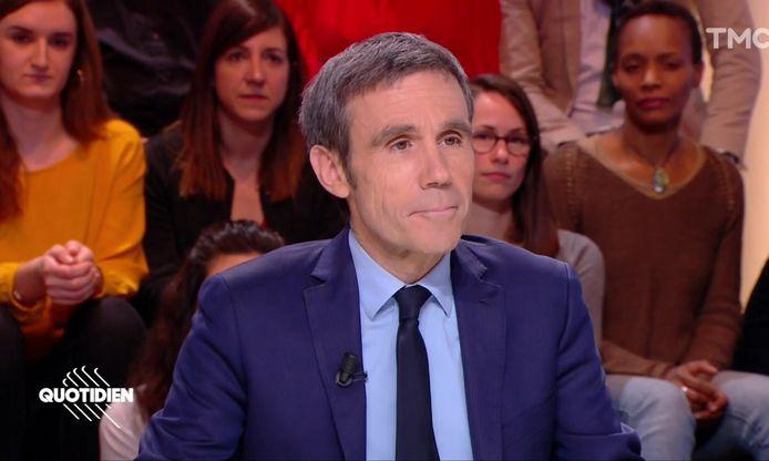 "David Pujadas dans ""Quotidien"""