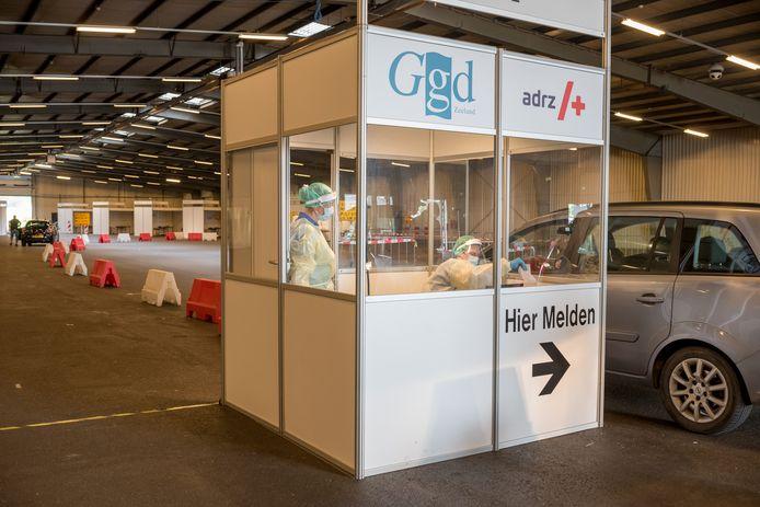 De teststraat van de GGD Zeeland in Goes.