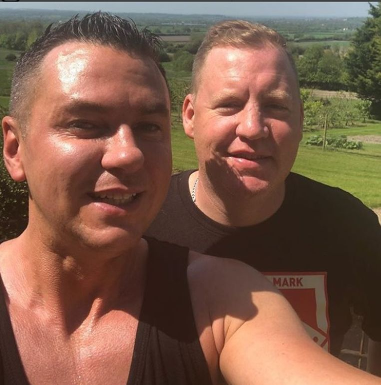 Matt Fiddes (l) en Anthony Reape zijn nu boezemvrienden geworden.