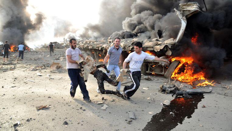Aanvallen in Damascus, 2012. Beeld AFP