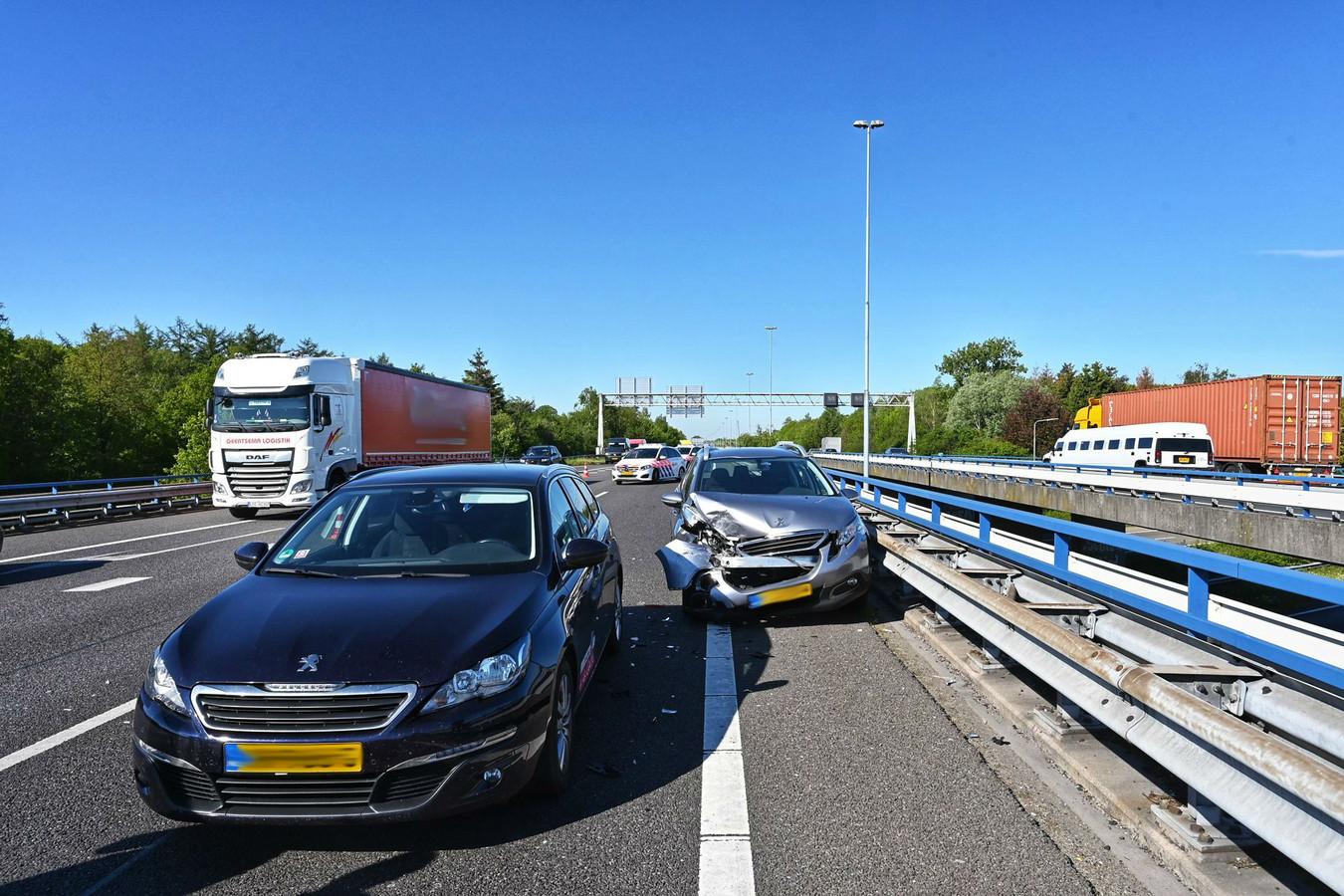 Ongeluk op A58 bij Bavel