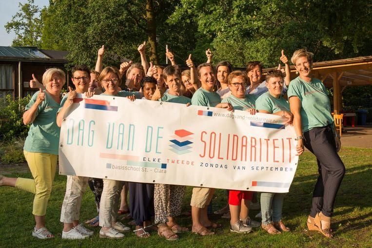 De organisatoren van de Dag van de Solidariteit.