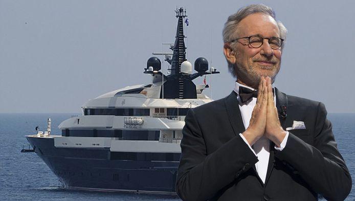 Steven Spielberg en zijn oude jacht: de Seven Seas.