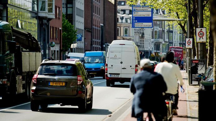 Auto's op de Stadhouderskade in Amsterdam