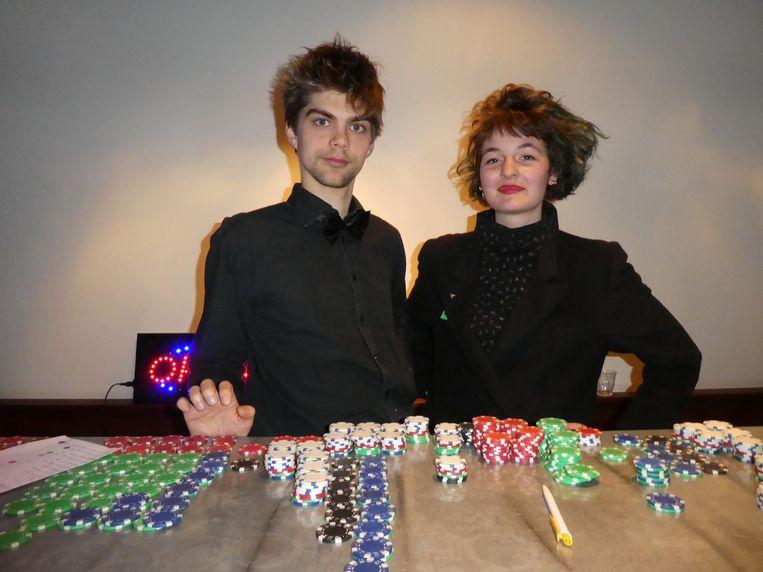 De privacycroupiers Dirk Over en Cyanne van den Houten (Black Box Bellagio). Beeld Hans van der Beek