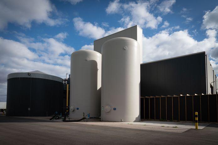 De Groen Gascentrale van Engie in Bemmel. Het energiebedrijf wil in Rilland een vergelijkbare installatie bouwen.
