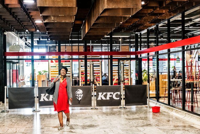 Het nieuwe KFC-restaurant in Brussel-Noord. Beeld Tim Dirven