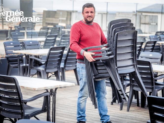 """Horecabaas Kim laat 1.400 (!) klanten genieten op Zeedijk: """"Een terras alleen niet rendabel, zoals Horeca Vlaanderen stelt? Dat betwist ik met klem"""""""