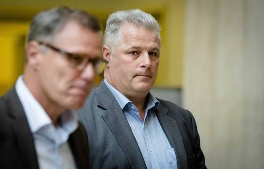 Vakbondsvertegenwoordigers Han Busker en Gerrit van de Kamp.
