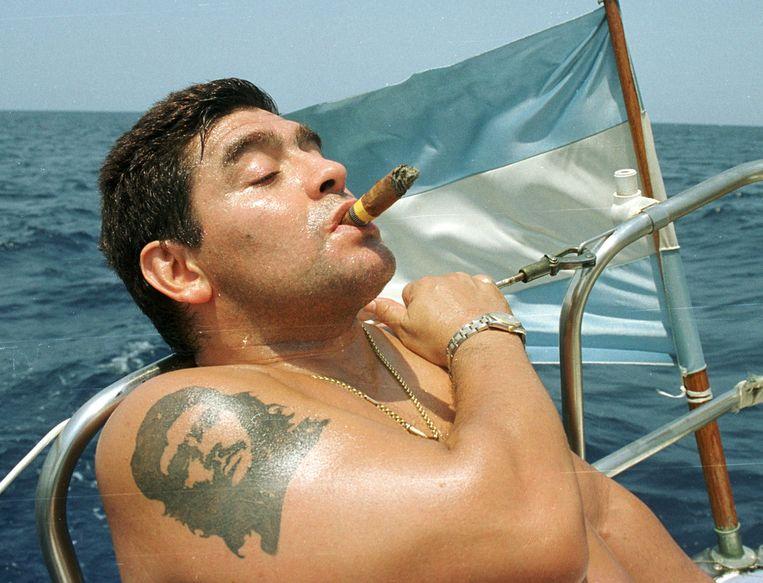 Maradona op Cuba, 2000. Beeld REUTERS