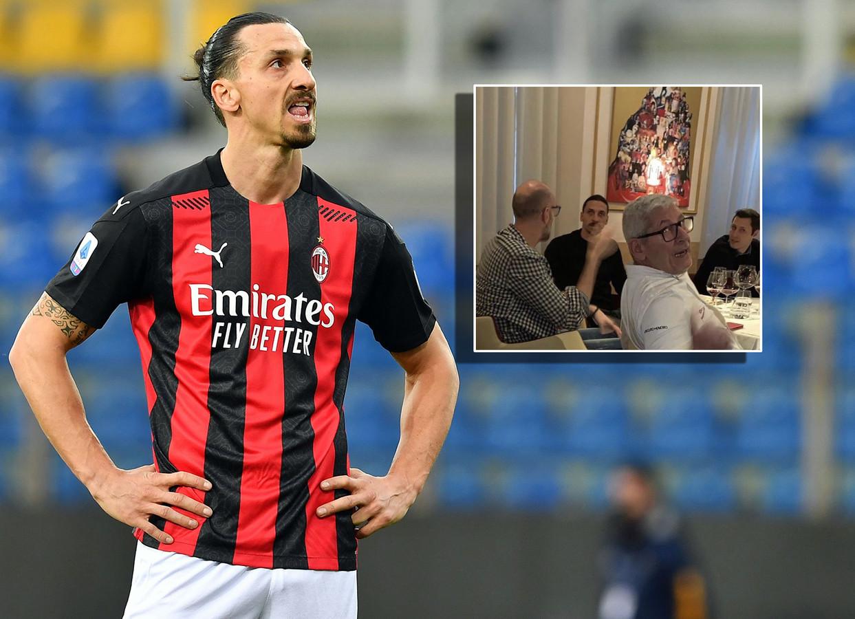 Zlatan Ibrahimovic. Inzet: zondag in een restaurant in Milaan, dat vanwege corona afgesloten zou zijn.