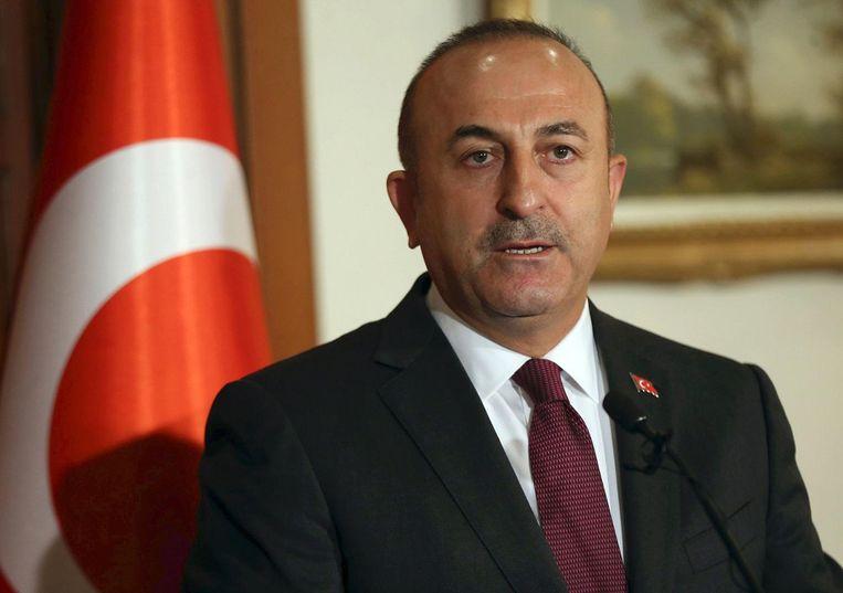 De Turkse minister van Buitenlandse Zaken, Mevlut Cavusoglu. Beeld epa