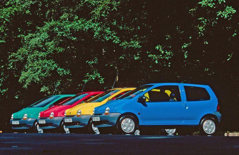 De Renault Twingo, een klassiekertje onder de wagen. Beeld Renault