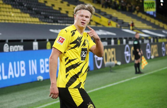 Haaland scoorde in de vorige derby tegen Schalke, die Dortmund met 3-0 won.