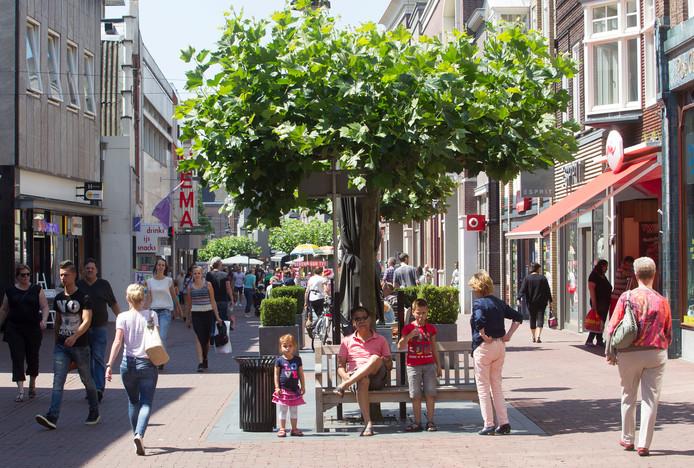 De Veestraat in het centrum van Helmond.