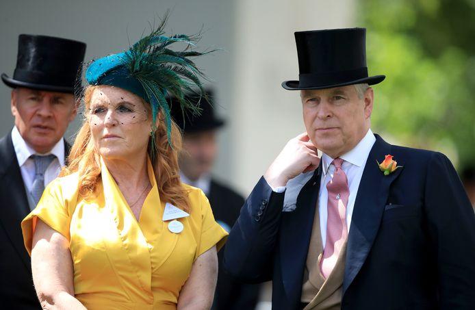 Sarah Ferguson en prins Andrew in 2019.