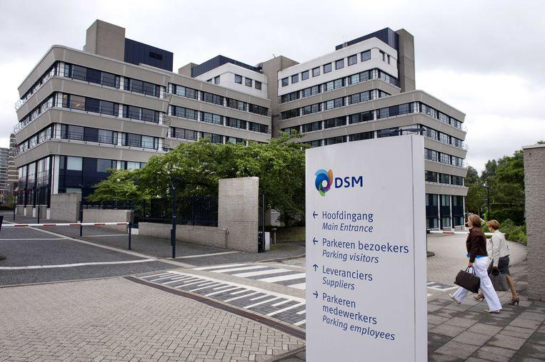 Het hoofdkantoor van DSM in Heerlen. DSM wil verhuizen, omdat het gebouw te groot is geworden.  Beeld ANP