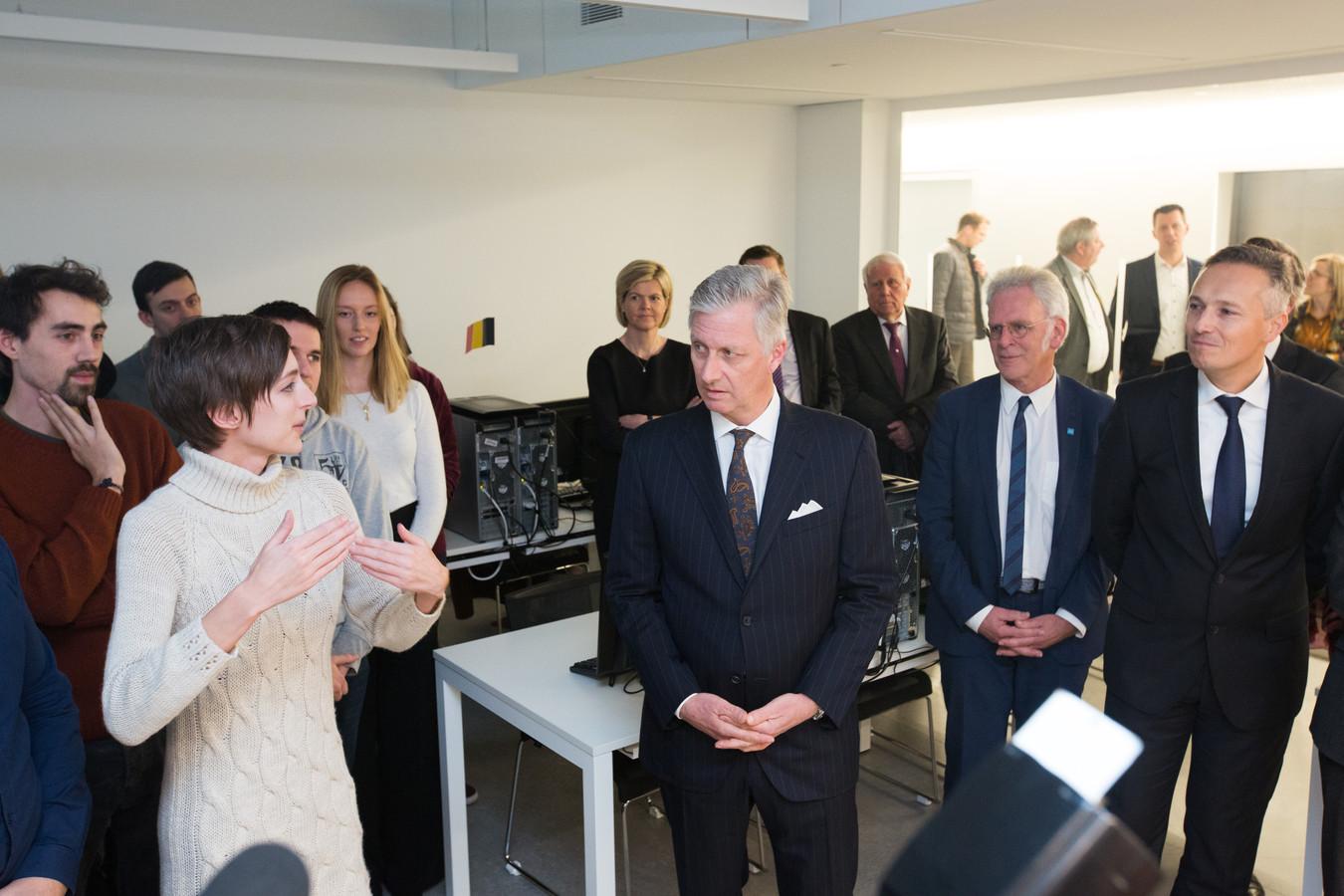 Koning Filip bezoekt de T2 campus in Genk