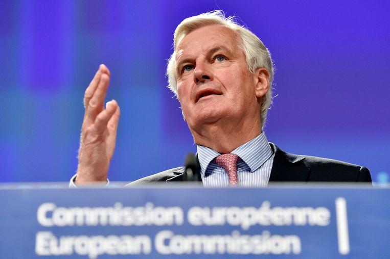 Michel Barnier, de hoofdonderhandelaar van de EU, lichtte vandaag toe hoe hij de Brexit wil aanpakken. Beeld REUTERS