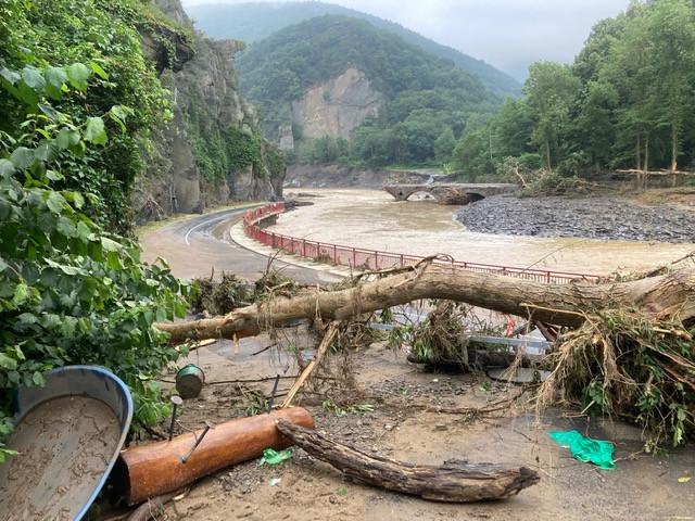 Het gebied nabij Ahrbruck is zwaar getroffen.
