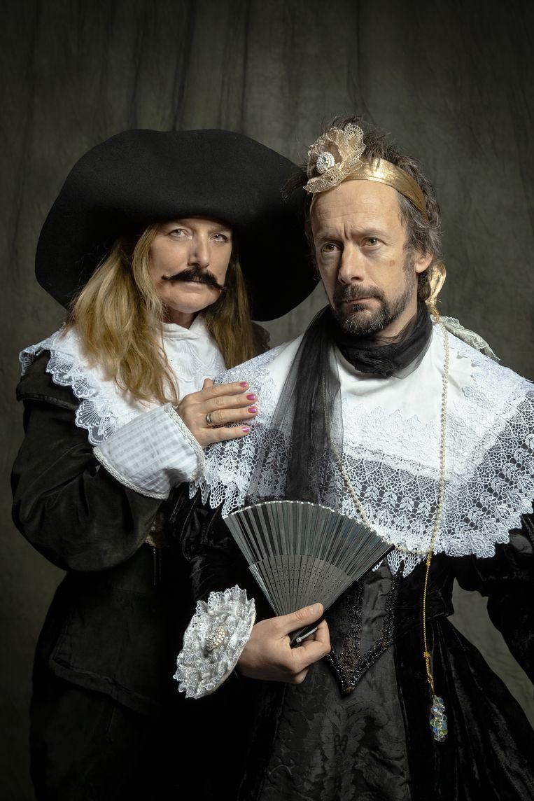 Manja Topper en Jorn Heijdenrijk, Gijsbreght van Amstel (Dood Paard/Theater Bellevue). Beeld Casper Koster