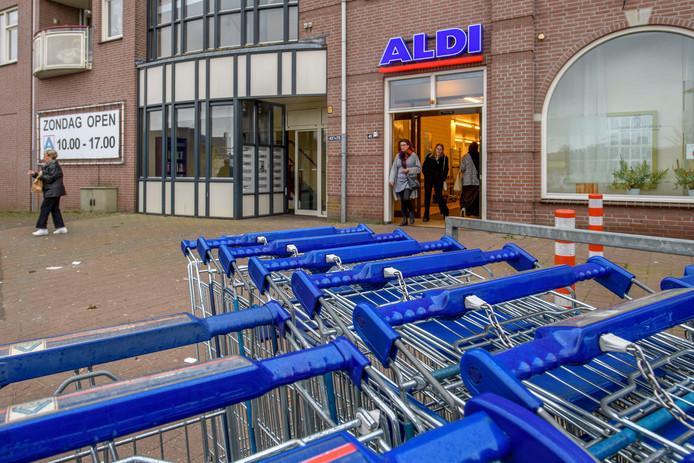 De vestiging van Aldi in Oudenbosch.