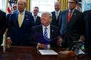 In 2017 tekende president Trump een decreet dat de versnelde aanleg van de Keystone XL-pijpleiding beval.