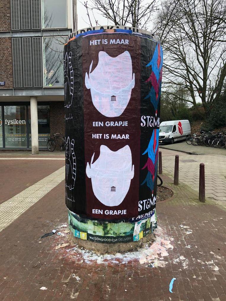 De poster van Veerman. Beeld Jan Pieter Ekker