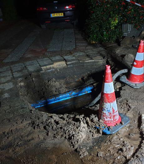 En dat is nummer vier: wéér een waterleiding gesprongen in Bilthoven