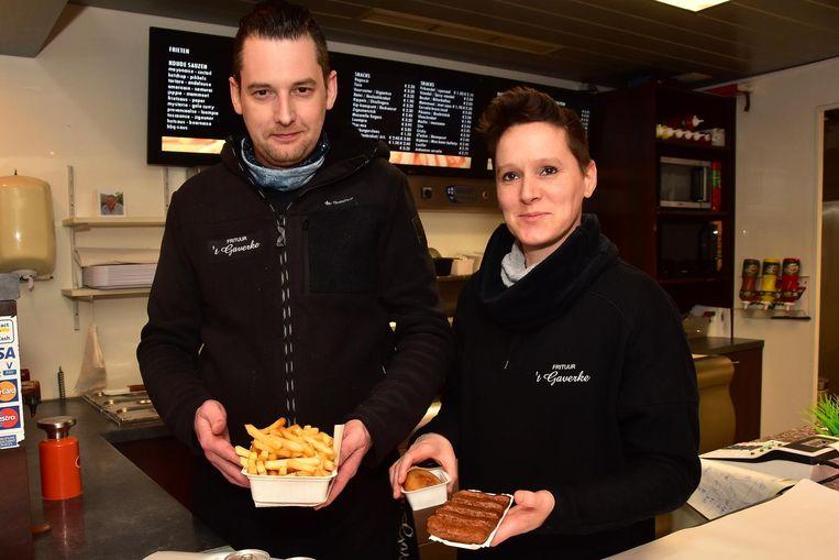 David Seys en Ilse Vandeghinste van frituur 't Gaverke.