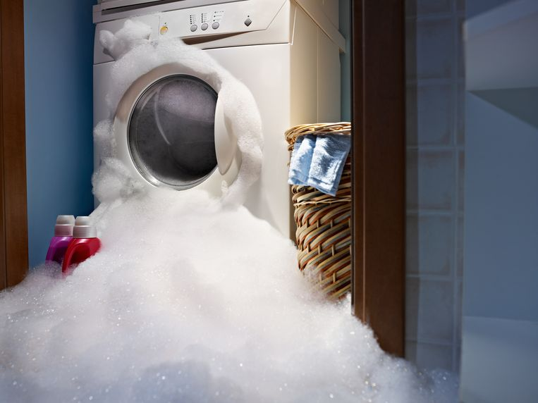 Een extreem voorbeeld van een vervroegd verouderde wasmachine. Beeld Thinkstock