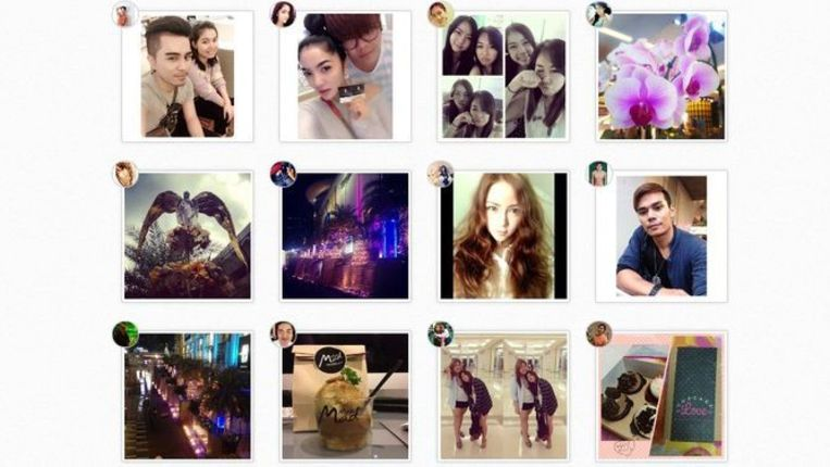Instagrams in Siam Paragon Beeld Instagram