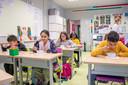 De leerlingen van het vierder leerjaar in GO! basisschool Op Dreef in Merksem vinden de soep heerlijk.