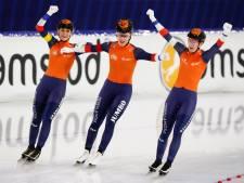 Schouten, De Jong en Wüst bezorgen Nederland goud op ploegenachtervolging