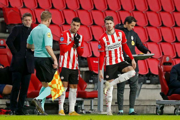 Joël Piroe en Marco van Ginkel vielen deze week bij PSV in tijdens het duel met AZ.