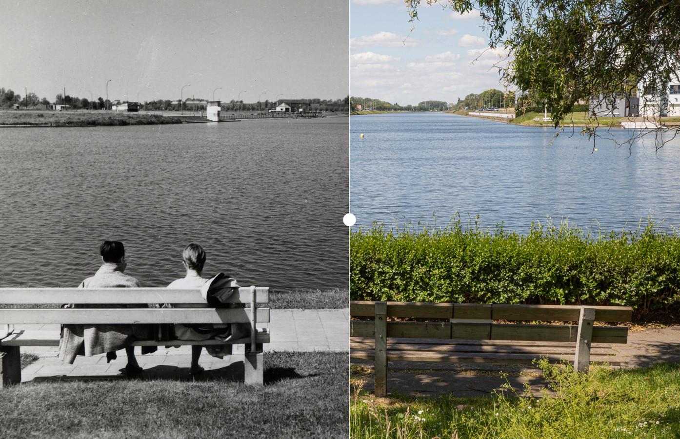 De Watersportbaan vroeger en nu.